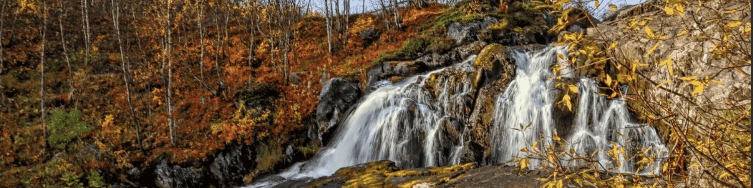 Водопад на реке Лавна - фото